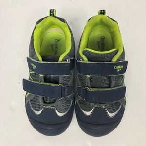 OshKosh B'Gosh Navy and Green Velcro Shoes